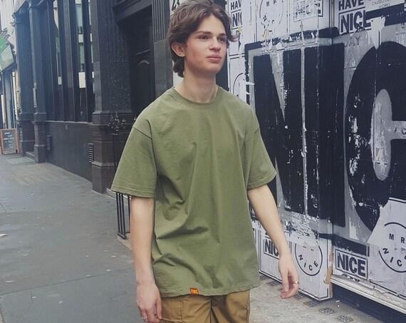 Plain Oversized T-shirt Olive