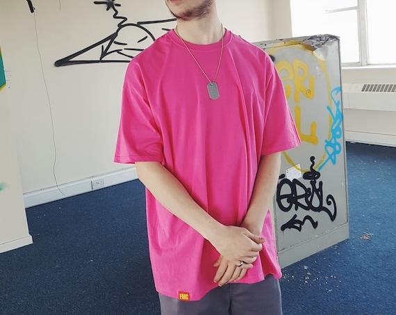 Plain Oversized T-shirt Electric Pink