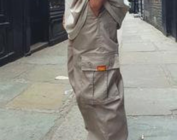 Baggy Cargo Trousers Beige