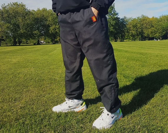 Baggy Track Trousers Black