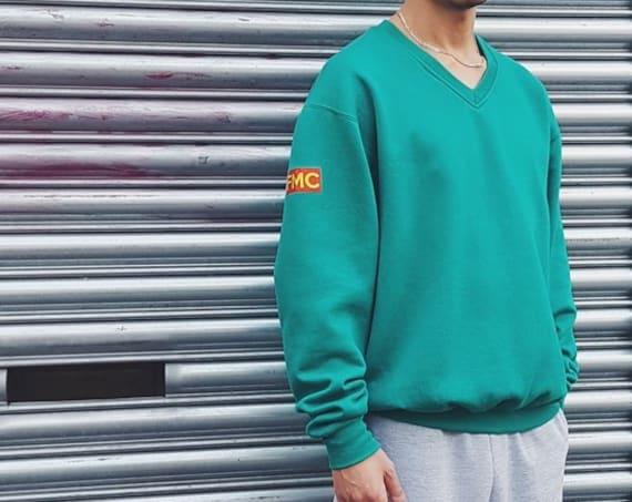 Premium V-Neck Sweatshirt Teal
