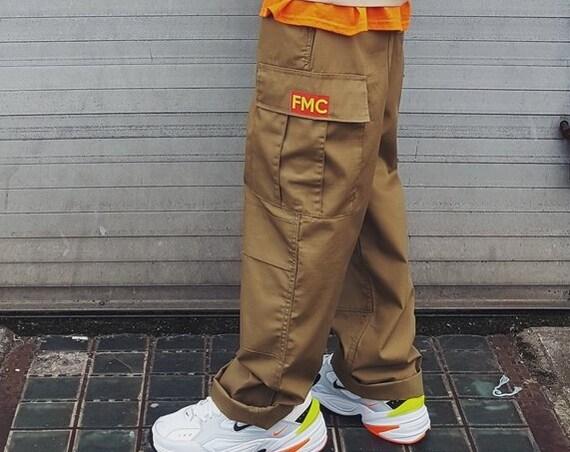 Y2K Cargo Trousers Khaki
