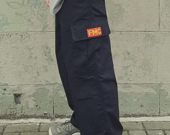 Y2K Cargo Trousers Black