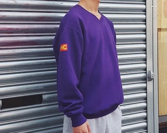 Premium V-Neck Sweatshirt Purple