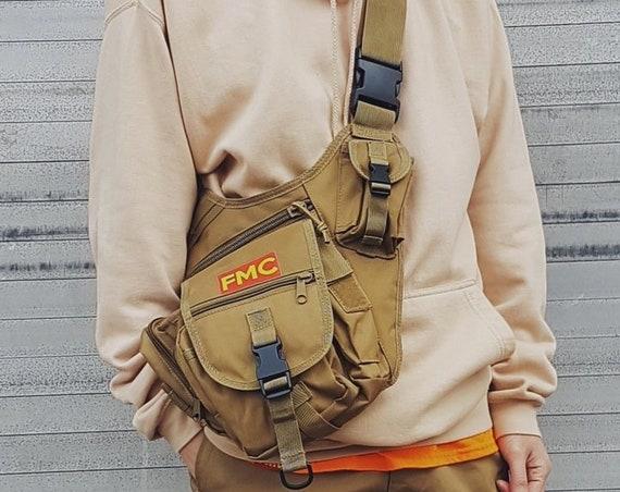 Military Cross Body Bag Khaki