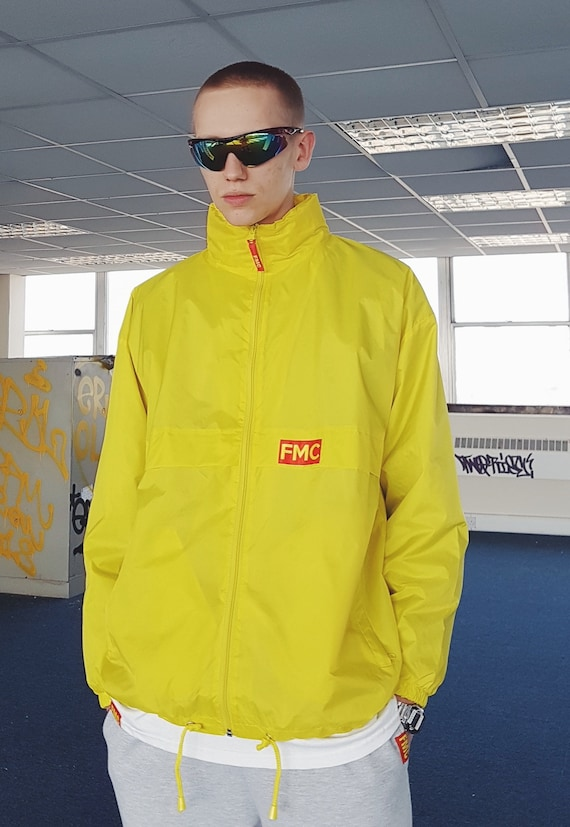 Y2K Waterproof Windbreaker Yellow