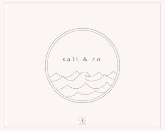 Premade Logo, Nautical Logo, Hand Drawn Logo, Sea Logo, Bohemian Logo, Gypsy Logo, Ocean Logo, Hipster Logo, Watermark, Coastal Logo