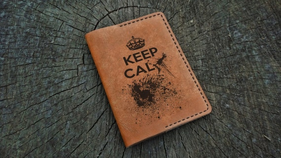 keep calm and travel on passport cover