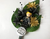 Handmade Lego Maid of Honour - Buffy the Vampire Slayer - Wedding Buttonhole / Boutonnieres