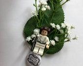 Handmade Lego Princess Leia - Star Wars - Bridesmaid - Wedding Buttonhole / Boutonnieres