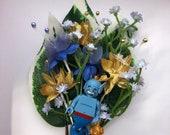 Handmade Lego Genie / Aladin / Disney Wedding Buttonhole / Boutonnieres