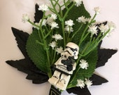 Handmade Lego - Storm Trooper - Star Wars - Wedding Buttonhole / Boutonnieres
