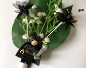 Handmade Lego Jon Snow / Game of Thrones Wedding Buttonhole / Boutonnieres