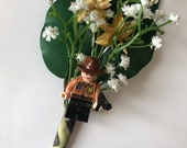 Handmade Lego Rick / The Walking Dead Wedding Buttonhole / Boutonnieres