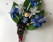 Handmade Lego Agent Phil Coulson/ Agents of S.H.I.E.L.D / Marvel / Superhero Wedding Buttonhole / Boutonnieres