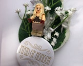 Handmade Lego Daenerys Targaryen - Game of Thrones - Maid of Honour - Wedding Buttonhole / Boutonnieres