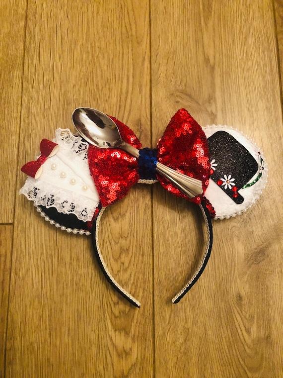Floral Ears Mouse Ears Custom Ears Disney Inspired Ears Mary Poppins Ears Mickey Inspired Ears Spoonful of Sugar Ears