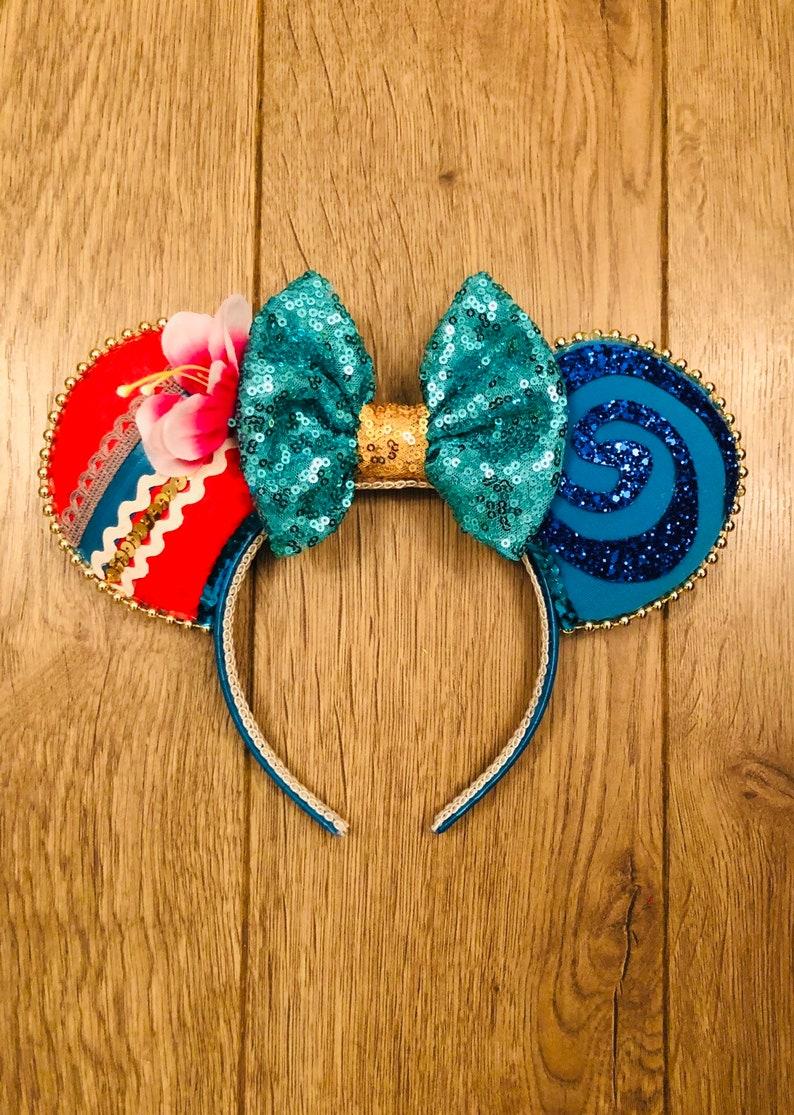 Moana inspired Minnie Mouse Ears Disney Ears image 0