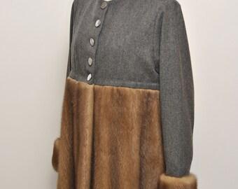 Mink coat, mink coat and cloth