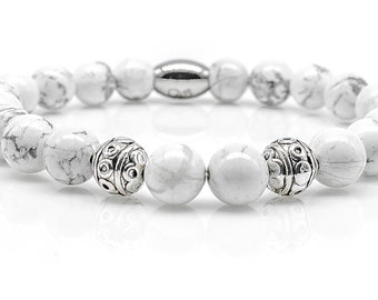 Great Design Large 925 Silver Designer Earrings m Genuine Sodalit /& Howlith