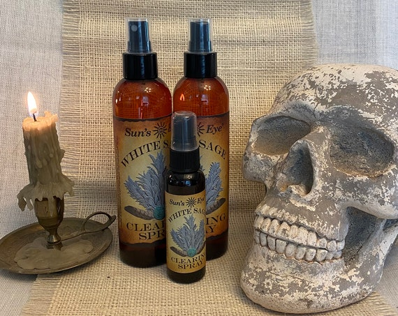 Clearing Spray, White Sage, Gift Set Item, Smudge Alternative, Protection, Pagan, Wiccan, Spiritual, Witchcraft