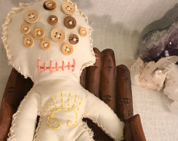 Multi eyed Hand Crafted OOAK Joy Poppet , Art Doll