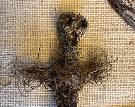 Mini Voodoo Doll, Earth Elemental, Altar Figurine, Sculpted Art Doll, Wiccan Altar Decor, Gothic Gift, OOAK, Spirit Doll, Pagan,Hoodoo