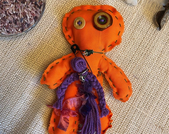 Worry Doll Hand Crafted OOAK Poppet Art Doll Voodoo Talisman Hoodoo Pagan Wiccan Altar Tool