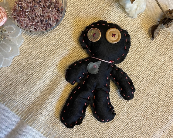 Worry Doll Hand Crafted OOAK Poppet Art Doll Pagan Wiccan Altar Tool Talisman Voodoo Hoodoo