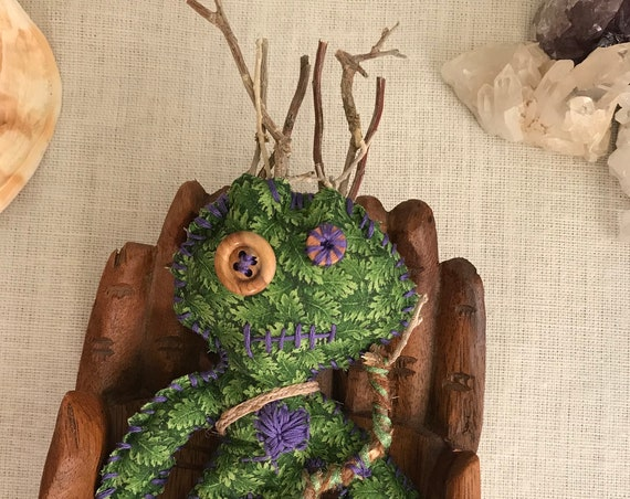 Woodland Themed Hand Crafted OOAK Nature Poppet , Art Doll