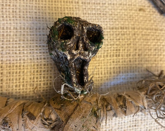 Voodoo Doll, Earth Elemental, Altar Figurine, Sculpted Art Doll, Wiccan Altar Decor, Gothic Gift, OOAK, Spirit Doll, Pagan,Hoodoo