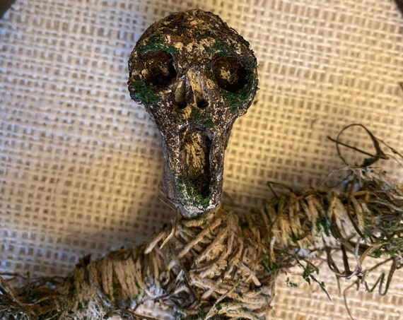 Voodoo Doll, Earth Elemental, Altar Figurine, Sculpted Art Doll, Wiccan Altar Decor, Gothic Gift, OOAK, Spirit Doll, Pagan,Hoodoo