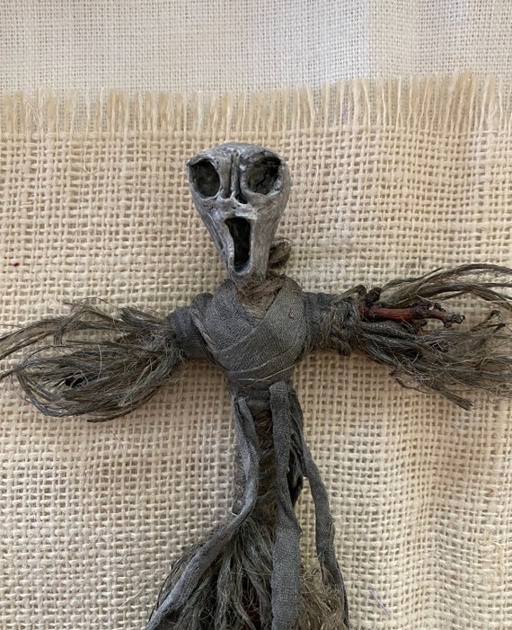 Protection Doll, Hand Crafted, Altar Figurine, Art Doll, Poppet, Spirit Doll, Voodoo Doll, Divination Tool, Hoodoo, Pagan, Wiccan, OOAK
