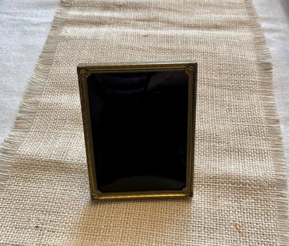 Vintage Frame Bubble Glass Scrying Mirror, Divination Mirror, Black Mirror Scrying Tool, Antique Convex Glass Brass Frame