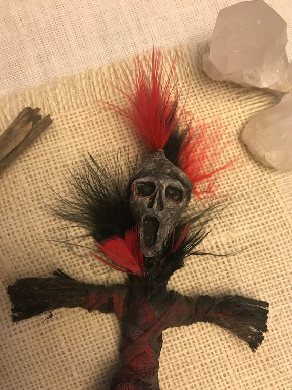 Red Feather Protection Doll, Hand Crafted, Altar Figurine, Art Doll, Spirit Doll, Voodoo Doll, Pagan, Wiccan, OOAK
