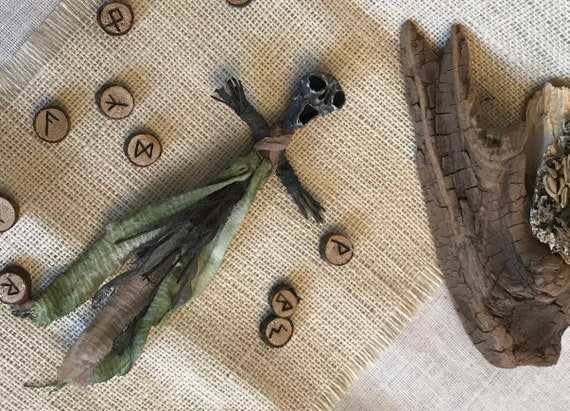 Voodoo Doll Protection, Altar Figurine, Sculpted Art Doll, Wiccan Altar Decor, Gothic Gift, OOAK, Spirit Doll, Divination Tool, Pagan,Hoodoo