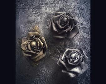 Hairclip brooch decoration rose