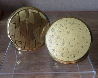 Powder compacts pair of vintage 1960s