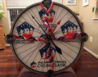 Custom bike clock.  Made this for me, I can make similar clocks.  This one is not for sale, just an example.