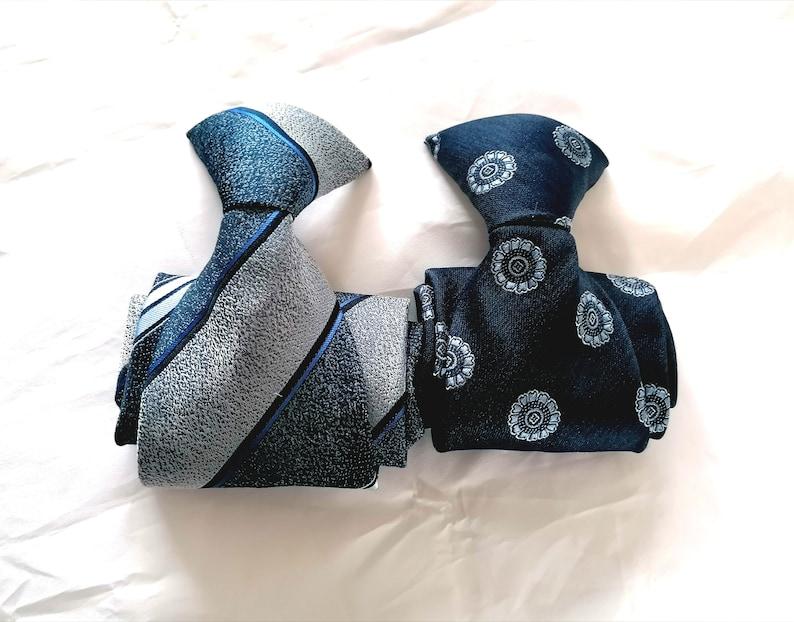 Men/'s Neckties Clip On 1960s Pair of Blue