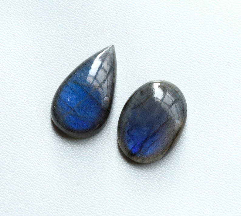 73Cts Jewellery Gemstone AAA Quality Mix Shape Blue Flashy Labradorite Loose Gemstone 100/% Natural 2 Pcs Amazing Labradorite Cabochon