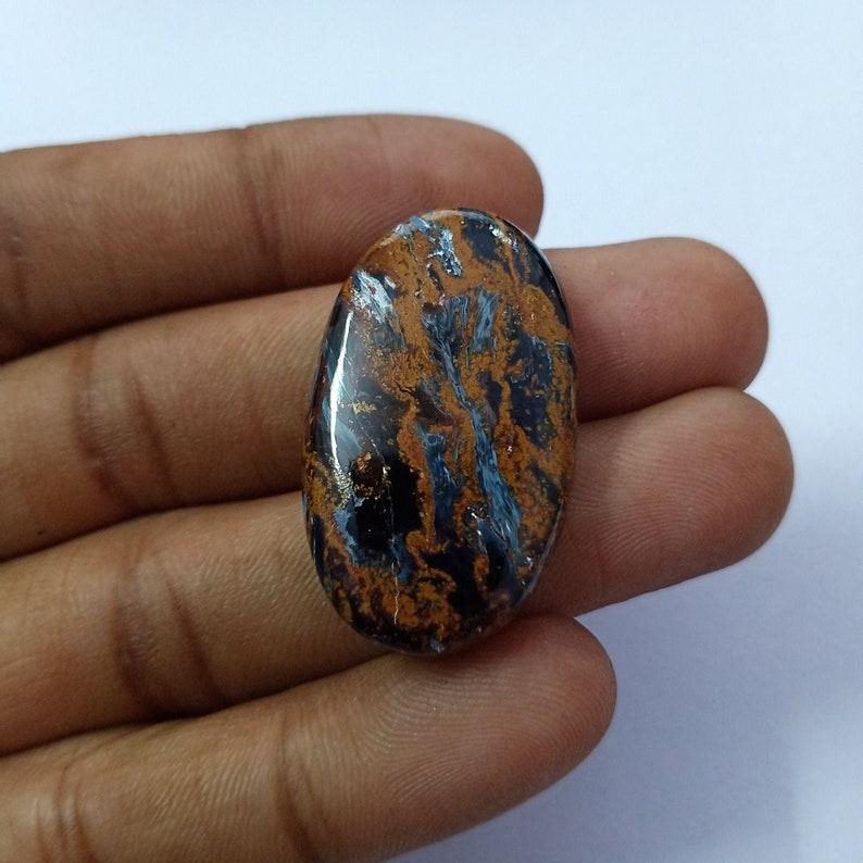 Size 34*21*7mm 41Cts Designer Oval Shape Pietersite Loose Gemstone Pietersite Cabochon Beautiful Sheen Namibian Pietersite Gemstone