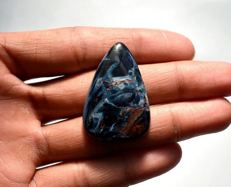 Triangle Shape Pietersite Loose Gemstone Size 41*27*6mm Weight 47Cts Big Size Beautiful Pietersite Cabochon Namibian Pietersite Gemstone