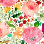 "Watercolor Floral Fabric by the Yard / ""Daybreak"" Dear Stella / Pink Flower Print / Floral Quilt Cotton Fabric - STELLA-DAW-1163-Multi"