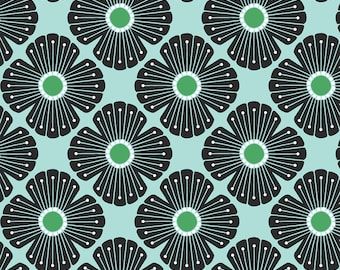 Cotton + Steel CANVAS - On a Spring Day - Blossom in Kelly Green Canvas Fabric - LV402-KG4C