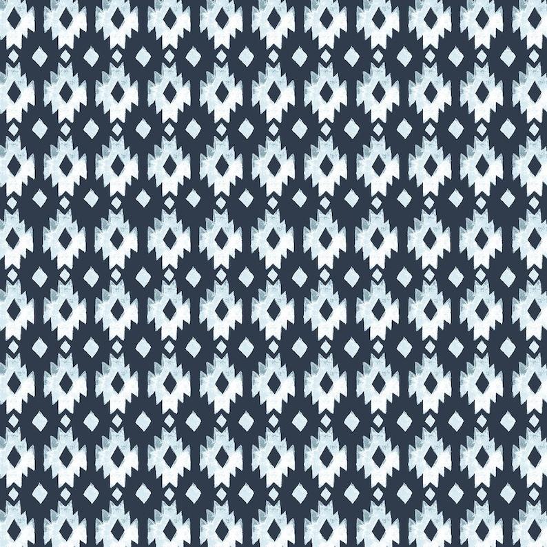 100/% GOTS-certified organic cotton Aztec Diamond Poplin Journey Poplin Collection by Monaluna JO-09-BLT Monaluna