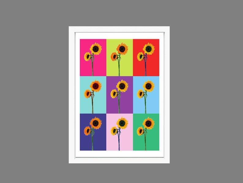 Sunflower print image 0