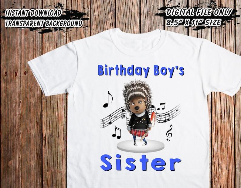 Digital Printable Files Only High Resolution Image Sing Movie Iron On Transfer Sing Movie Birthday DIY Iron On Transfer Sister