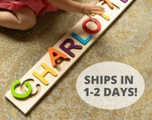 Personalized Name Puzzle - Fat Brain Toys - Ships in 1-2 Business Days - Wooden Name Puzzle - Custom Name Puzzle - Personalized Toy