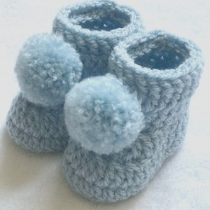Newborn baby booties white in colour handmade new ideal gift present